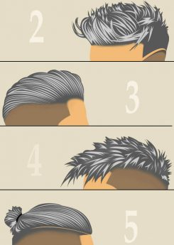 6 Grey Men Hairstyles & Haircuts – styling and coloring at the same time