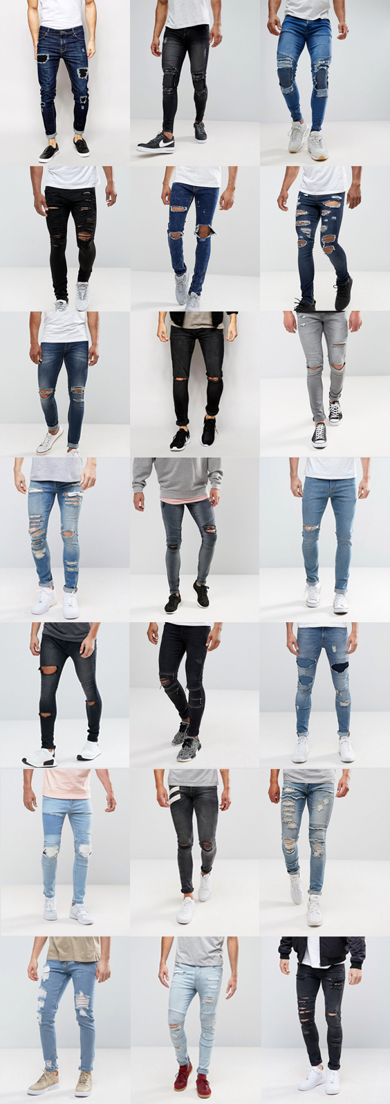 21 Super Skinny Jeans With Rips for Guys